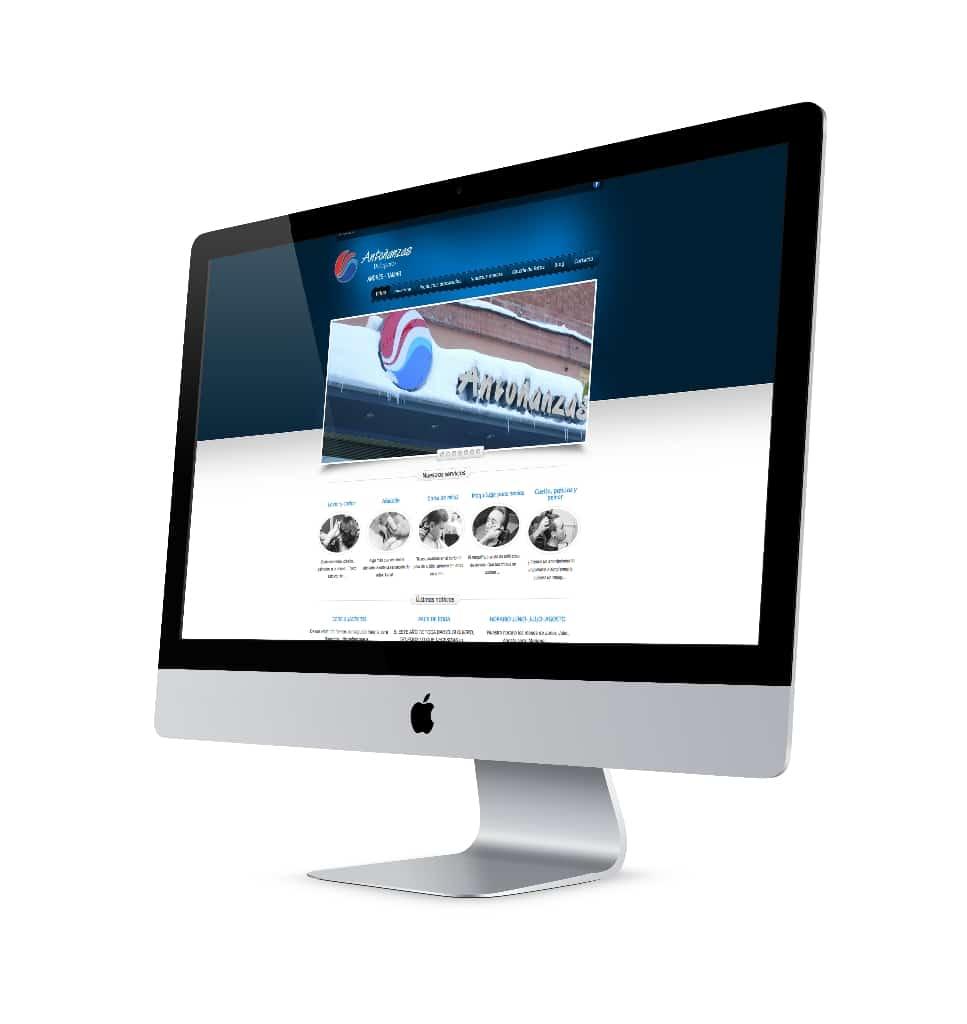 Diseño y desarrollo de página Web - Peluquería Antoñanzas
